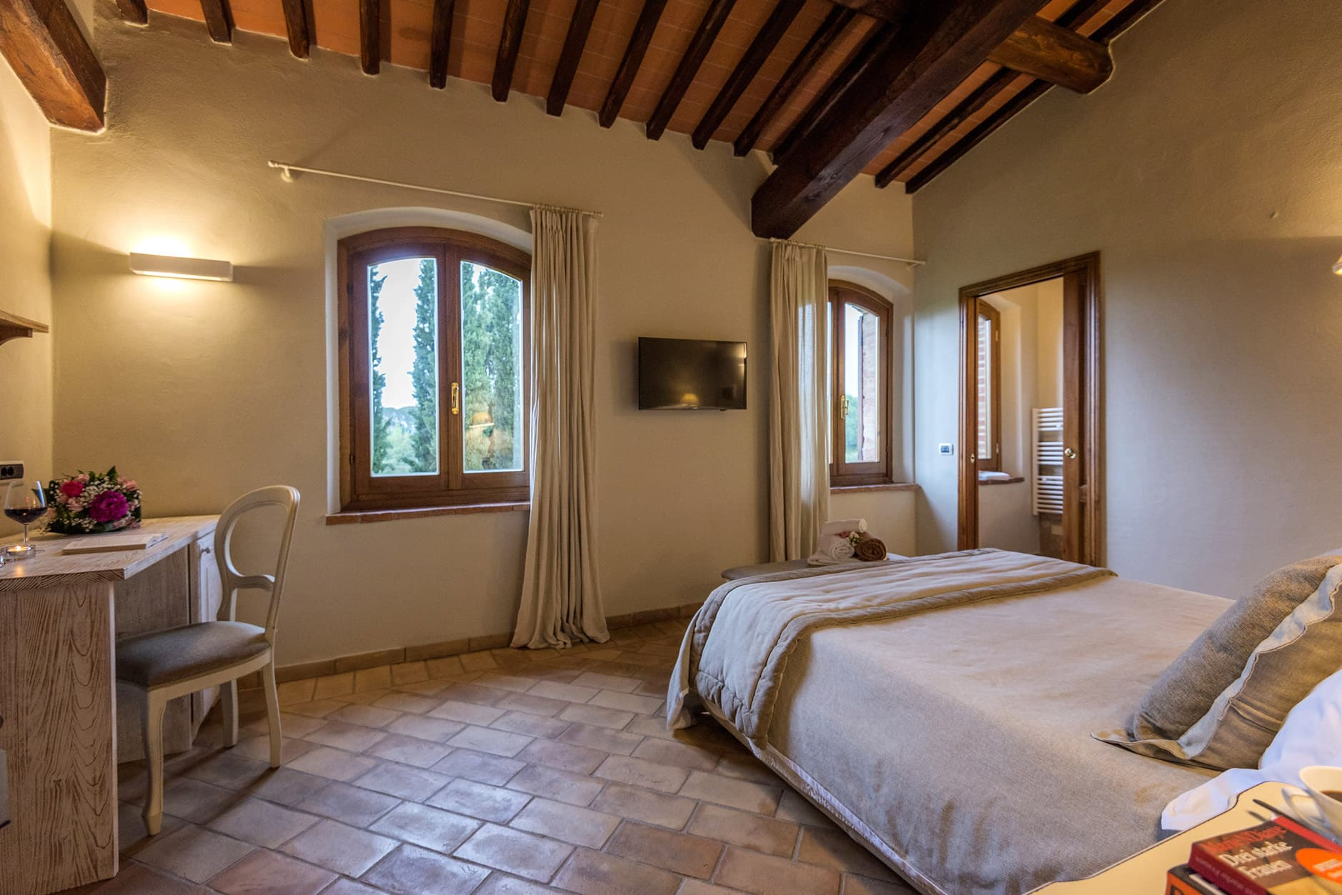 Camere bed and breakfast agriturismo a San Gimignano b&b in Toscana